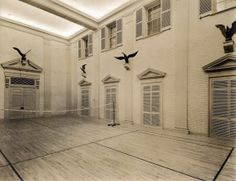 "Winterthur indoor badminton court : It's pronounced ""winter-Tour""   New York Social Diary"