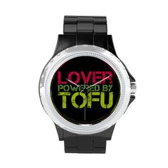 Lover powered by tofu wrist watch