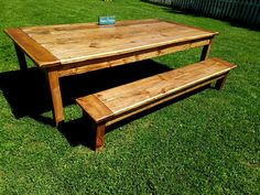Rustic Breadboard End Farm House Reclaimed Wood Table & TWO Matching Bench Extra Wide Primitive Country Kitchen Custom Sizes Colors Woodworking Patterns, Woodworking Shop, Woodworking Projects, Wood Table Rustic, Farmhouse Table, Wood Tables, Furniture For You, Kitchen Furniture, Reclaimed Wood Furniture