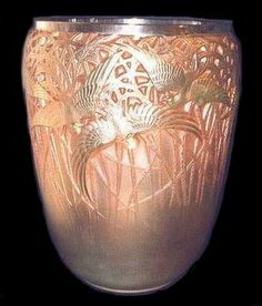 Gorgeous art with bird/nature theme.THE SPLENDORS OF LALIQUE ART, Vases ~ Blog of an Art Admirer