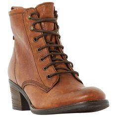 Buy Dune Patsie D Lace Up Ankle Boots, Tan from our Womens Shoes, Boots & Trainers range at John Lewis & Partners. Leather Lace Up Boots, Lace Up Booties, Leather Ankle Boots, Ankle Booties, Flat Booties, Tan Leather, Low Ankle Boots, Tan Boots, Shoe Boots