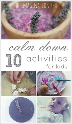 10 calm down activities for kids. I need these at the witching hour!