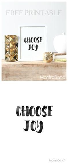 Choose Joy Free Printable| MantraBand® Bracelets