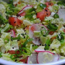 COMIDINHAS FÁCEIS: Salada de acelga com rabanete