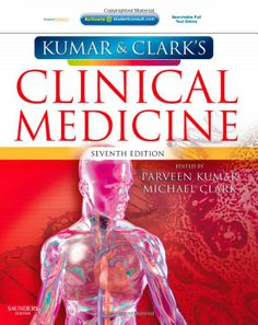 Free Medical Books: Kumar and Clark's Clinical Medicine, Edition Medical Textbooks, Medical Students, Medicine Book, Internal Medicine, Davidson Medicine, Pharmacy Books, Pharmacology, Nurse Life, Clarks