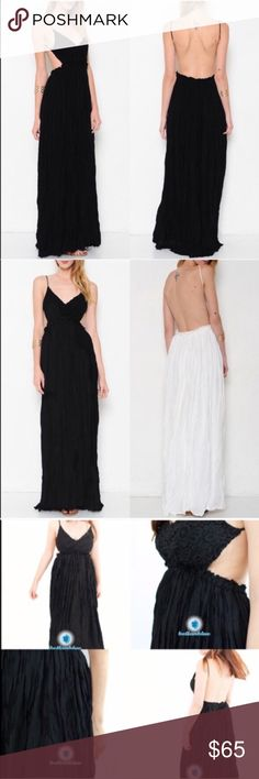 AILANI blossom Backless maxi dress - BLACK Jaw dropping maxi dress oozing with sex appeal yet hippie girl. Can be worn dressed up or down. Who is daring enough to rock this? Fully Lined.   AVAILABLE IN WHITE AND BLACK.  NO TRADE, PRICE FIRM Bellanblue Dresses Maxi