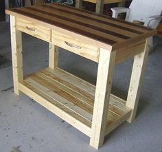 Kitchen Island Out Of Pallets pallet project: kitchen island / work table | pallet projects
