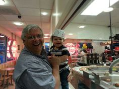 Our fearless leader and his grand son