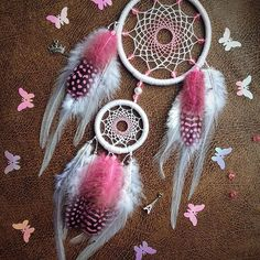 Dream catcher, Pink and White