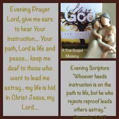 Evening Scripture #atruegospelministry