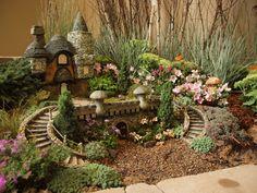 Adorable Fairy Garden Village from our 2011 Minnesota State Fair exhibit