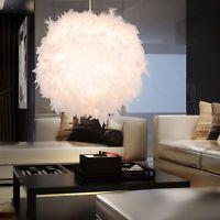 10 Watt LED Hänge Lampe Feder Kugel Beleuchtung Wohn Zimmer Pendel Leuchte weiß