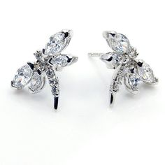Cubic Zirconia Earrings & .925 Sterling Silver by TheSilverPlaza