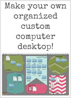 Tech Tuesday: Custom Organized Computer Desktops  Hey teacher friends! If you are anything like me, my computer desktop needs to be organized in a certain way. First, most everything needs to be in a folder. They drive me berserk if I have random icons floating all over the place.