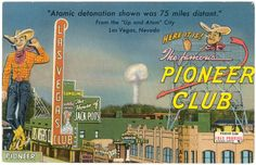 Atomic test blast, northwest of Vegas