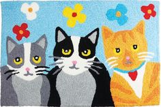 Jellybean Accent Cat Rugs Kat Krazy JB-STS040