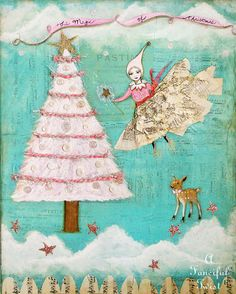 The Magic of Christmas Sugar Plum Fairy  Print by AFancifulTwist, $20.00