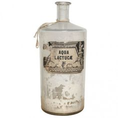 Large 19th c. Original French Apothecary Bottle of Aqua Lactuca... ❤ liked on Polyvore featuring fillers, harry potter, bottles, objects and decor