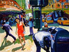 I Know A Letter When I See One. 30 x 40 Urban Life, Pedestrian, Toms, Letter, Paintings, Artwork, Work Of Art, Painting, Draw