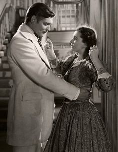 Clark Gable and Vivien Leigh in Gone with the Wind c.1939