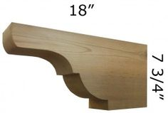 Rafter Tail 86T6 (pictured) We have the largest selection in wooden cedar architectural brackets, wooden cedar corbels and gingerbreads for front porch posts, gable, sofits and front stoop. All of our Cedar products are made in USA. Call Pro Wood Market today 1-800-915-5110 Local 770-406-6646