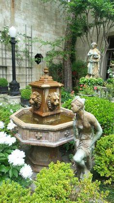 Garden Water, Water Features In The Garden, Gates, Fountain, Garden Sculpture, Outdoor Decor, Luxury, Water Fountains, Gate