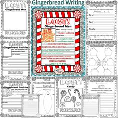 Gingerbread Cookies Writing Prompts, Posters, and Graphic Oranizers from TheTravelingclassroom on TeachersNotebook.com -  (30 pages)  - Add some fun to writing with these gingerbread men writing posters, prompts and graphic organizers! This correlates perfectly with the traditional gingerbread fairy tales as well as with my �Ten Littl