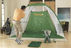 The Teego Golf Training System is the portable golf practice system that brings the driving range to you. My hubby would LOVE this
