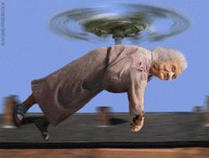 grandma gif | Flying Granny | Funny Pictures