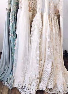 so many pretty textured dresses!