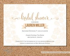 Bridal Shower Invitation - Sketched Floral -Peach- DIY Editable Word Template, Instant Download, Printable  $9.00 CAD | www.parkbenchpaperie.etsy.com