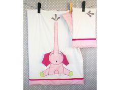 SłoniUSZEK różowy - pościel dziecięca, pościel dla dziecka, producent pościeli…
