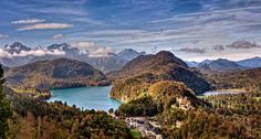 Schloss Hohenschwangau is a 19th century palace in southern Germany. It was the childhood residence of King Ludwig II of Bavaria and was built by his father, King Maximilian II of Bavaria.