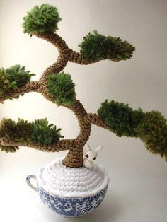 Winter Informal - Amigurumi Juniper Bonsai Tree. via Etsy..