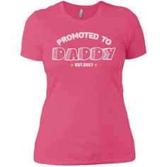 Promoted To Daddy Next Level Ladies' Boyfriend Tee