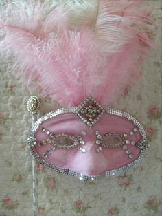 pink and feather mask #pink #color #colours