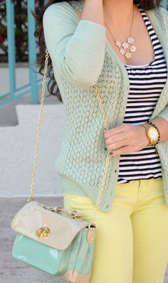 Earnestyle: Mint and Lime #mint #spring #pastels #stripes
