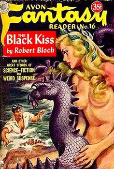 Avon fantasy reader cover featuring Mermaid and Sea monster, awesome Sci-fi! Science Fiction Kunst, Science Fiction Magazines, Pulp Fiction Art, Pulp Art, Sci Fi Comics, Horror Comics, Sci Fi Horror, Arte Horror, Pinup