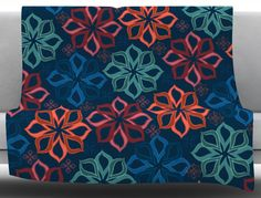 Floral Charm by Jolene Heckman Fleece Blanket