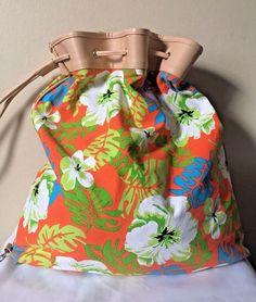 Sun 'N' Sand Purse Womens Multicolor Floral Drawstring Canvas Bag  #SunnSand #BucketBag