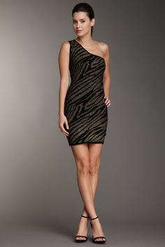 Metallic Zebra Print Dress