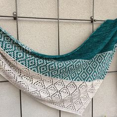 Laurelie by Lisa Hannes | malabrigo Mechita in Pearl and Teal Feather