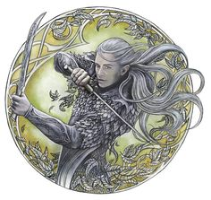 "Famous Sindar:  Legolas, son of Thranduil...member of the Fellowship of the Ring, he won great renown in the War of the Ring, and afterwards settled a colony of Silvan Elves in Ithilien. Famous for his ground-breaking friendship with Gimli the Dwarf Lord of Aglarond.  ""Warrior of Mirkwood"" by jankolas on DeviantArt"
