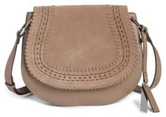 Vince Camuto Kirie Suede & Leather Crossbody Saddle Bag - Grey  | Top Picks for the Nordstrom Anniversary Sale