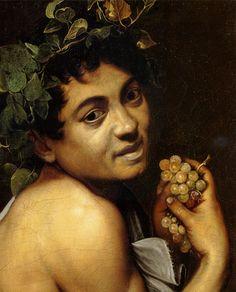 Caravaggio (Michelangelo Merisi) Autoritratto in veste di Bacco (Bacchino malato). Dettaglio. 1593. Olio su tela, cm 67x53. Galleria Borghese, Roma, Italia.
