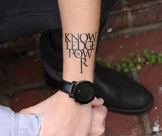 Knowledge Is Power - temporary tattoo