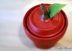 Crafty Moods - Free craft and lifestyle projects resource for all ages: Sweetest Apple Clay Jar EVER!