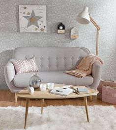 Un petit salon cosy d'inspiration scandinave