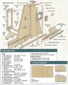 Resultado de imagen de DIY Panel Saw Plans Woodworking Techniques, Woodworking Projects Diy, Woodworking Jigs, Wood Projects, Woodworking Machinery, Woodworking Classes, Serra Circular, Best Circular Saw, Panel Saw