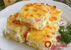 Luxusná príloha, ktorá je v skutočne úplne jednoduchá na prípravu. Stačí len nakrájať, preliať jogurtom a šup do rúry. Je to dobrota! Potato Recipes, Vegetable Recipes, Home Recipes, Healthy Recipes, Other Recipes, Lasagna, Quiche, Macaroni And Cheese, Food And Drink